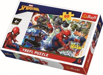 Puzzle Curajosul Spiderman Trefl 60