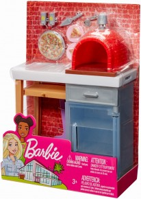 Barbie set mobilier exterior cuptor pizza