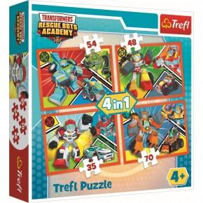 Puzzle Academia Transformers trefl 4in1