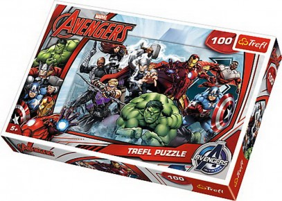 Puzzle Trefl 100 Incepe atacul Marvel
