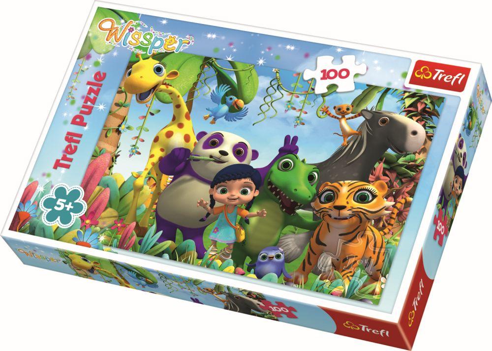 Puzzle Trefl 100 Soapte si prieteni