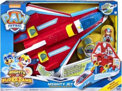 Set de joaca Paw Patrol 2in1 - Centrul de comanda Mighty Jet