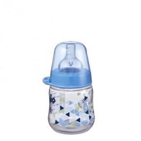 Biberon cu gat larg Boy PP 150 ml,tetina silicon ortodontica, debit mediu, 0+ luni, nip 35055