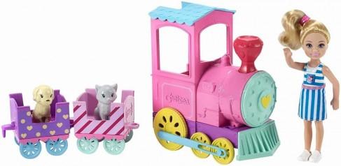 Barbie papusica Chelsea cu tren