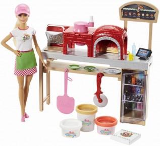 Set pizzerie Barbie cu papusa