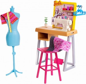Set joaca Barbie mobilier studio moda
