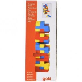 Joc Jenga cu piese din lemn Colori