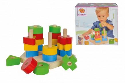 Eichhorn joc educativ cu forme geometrice din lemn 21 de piese