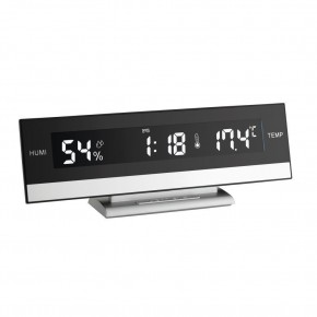 Termo-higrometru cu ceas si alarma iluminat TFA