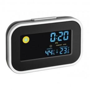 Termo-higrometru cu ceas si alarma TFA