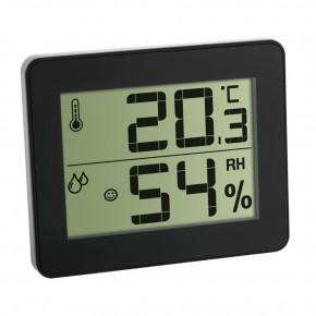 Termometru si Higrometru digital de camera extra-plat negru TFA