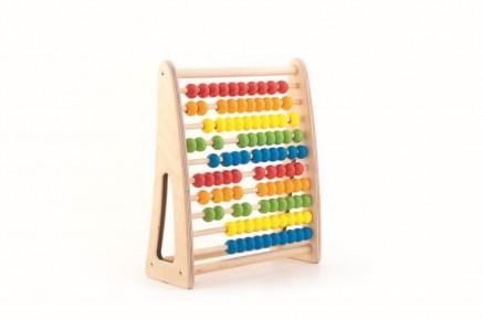 Numaratoare colorata din lemn