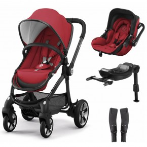 Kiddy Set Evostar 1 + scoica auto Evoluna i-Size, Ruby Red