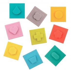 Ludi set 9 cuburi - Primul joc de construit al bebelusului