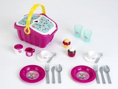 Cos picnic Barbie cu accesorii