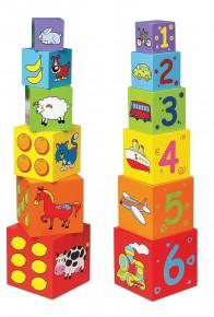 Cuburi de lemn New Classic Toys