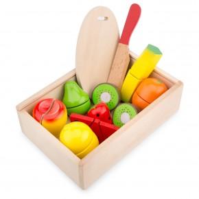 Set Cutie cu fructe din lemn
