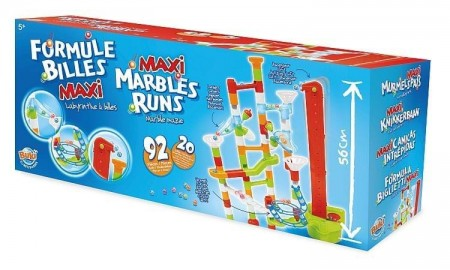 Joc de constructie - labirint mare cu bile - 92 piese