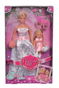 Papusa Steffi cu rochie de mireasa