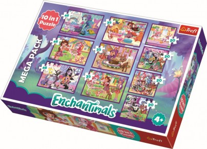 Puzzle Trefl 10 in 1 Aventurile Enchantimals