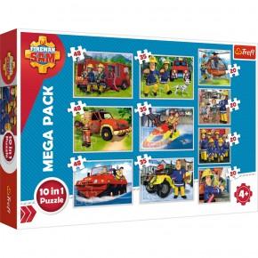 Puzzle Trefl 10 in 1 Echipa Pompierului Sam