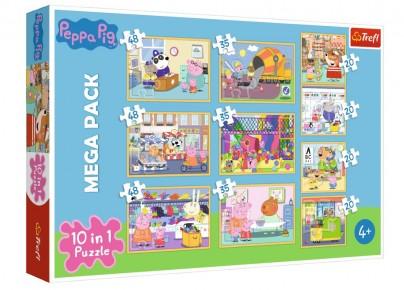 Puzzle Trefl 10 in 1 Purcelusa Peppa Pig cu prietenii