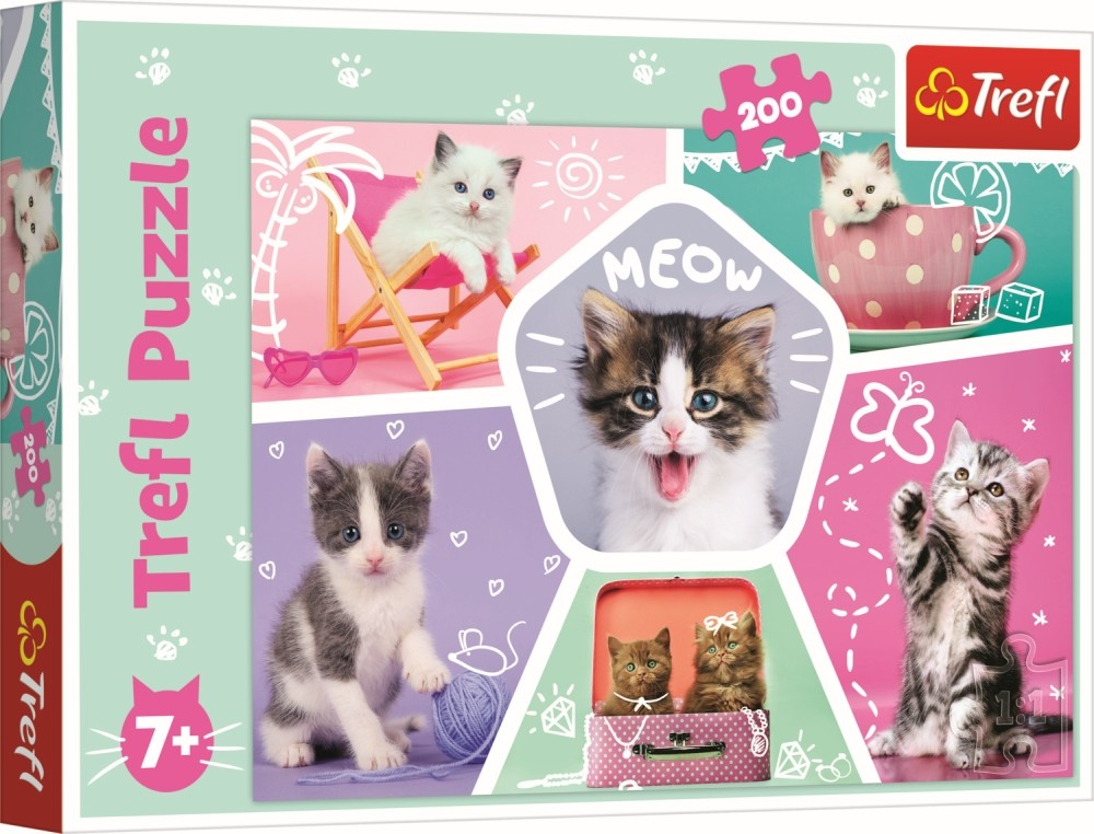 Puzzle Trefl 200 Pisicute in actiune