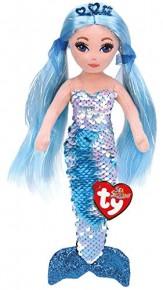 TY Sirena albastra de plus cu paiete 27 cm