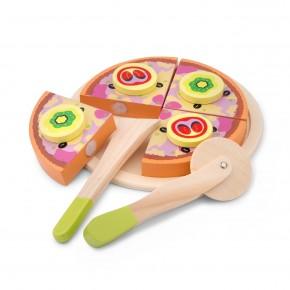 Jucarie din lemn Pizza Funghi