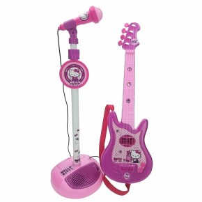 Set chitara si microfon Hello Kitty