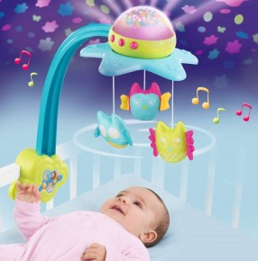 Carusel muzical Smoby 2in1 - Cotoons Star
