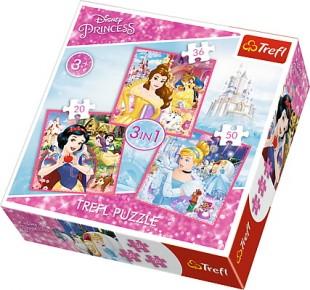 Puzzle Trefl 3in1 Lumea minunata a printeselor