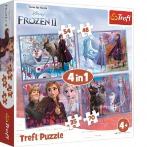 Puzzle Trefl 4in1 Frozen 2 Calatorie catre necunoscut