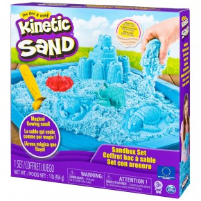 Set Kinetic Sand - nisip kinetic albastru 454g