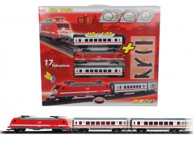 Tren cu sunet lumini sine si 2 vagoane