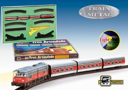 Trenulet electric calatori pentru copii