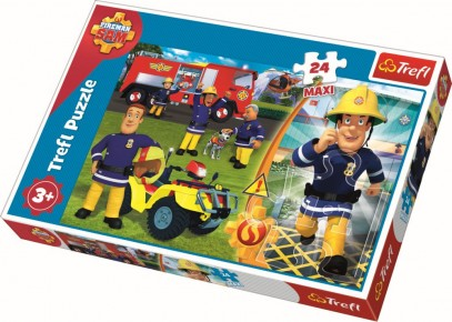 Puzzle Trefl - Bravul Pompier Sam - 24 piese