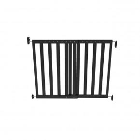 Poarta de siguranta extensibila Noma, 64 – 100 cm, lemn negru, N93743