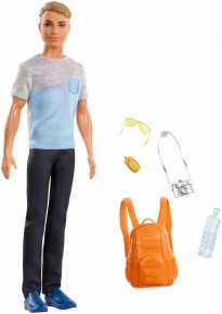 Papusa Barbie Travel - Ken cu accesorii de calatorie