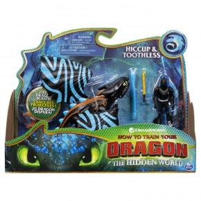 Dragons 3 figurina Hiccup si Stirbul cu lansator