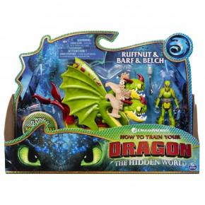 Dragons 3 figurina Ruffnut cu Barg si Belch