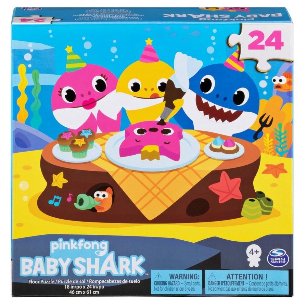 Baby Shark puzzle de podea 24 de piese 61x46cm