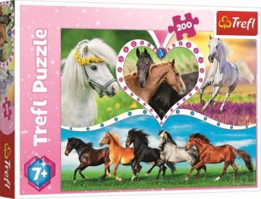 Puzzle Trefl 200 Cai frumosi