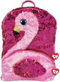 Rucsac de plus TY cu paiete Gilda Flamingo