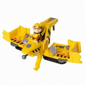 Vehicul 2in1 Flip&Fly si figurina Paw Patrol - Rubble