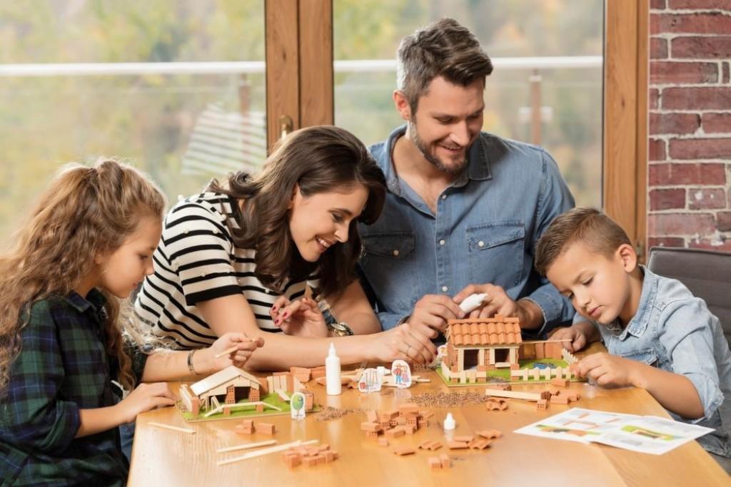Set de constructie Brick Trick - Fortareata din caramizi adevarate