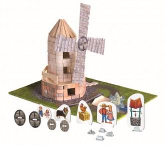 Set de constructie Brick Trick - Moara de vand din caramizi adevarate