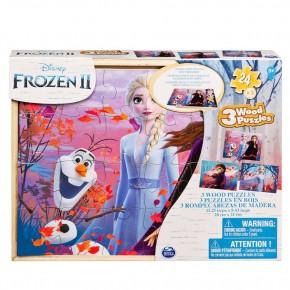 Set 3 puzzle-uri Frozen 2 din lemn