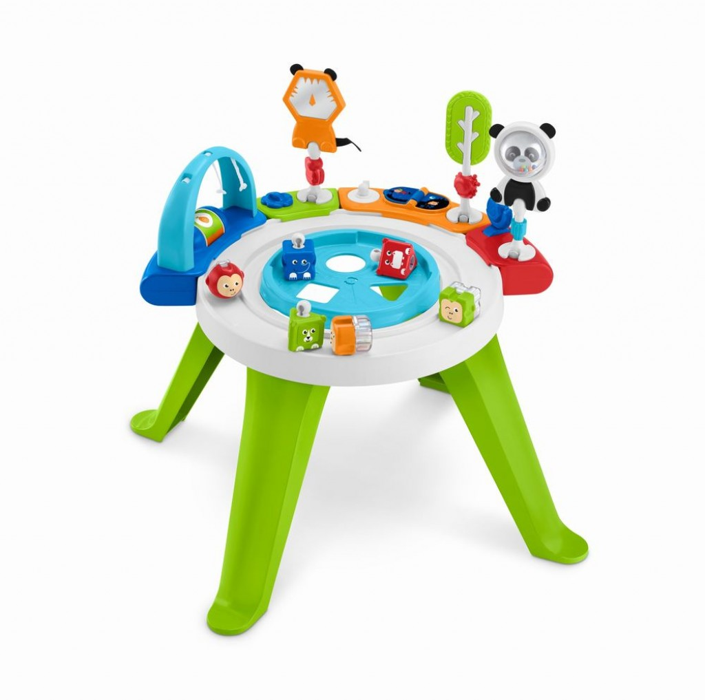 Centru de activitati 3in1 cu scaun rotativ fisher price