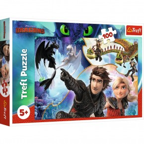 Puzzle Trefl 100 pe taramul dragonilor